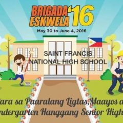 Back 2 School Brigade 2016: Saint Francis National High School – San Francisco, Binan City