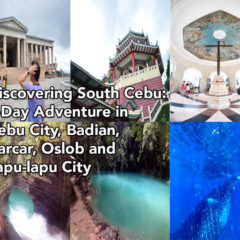 Discovering South Cebu: 4-Day Adventure in Cebu City, Badian, Carcar, Oslob and Lapu-lapu City